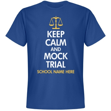 Keep Calm Mock Trial Unisex Anvil Lightweight Fashion Tee