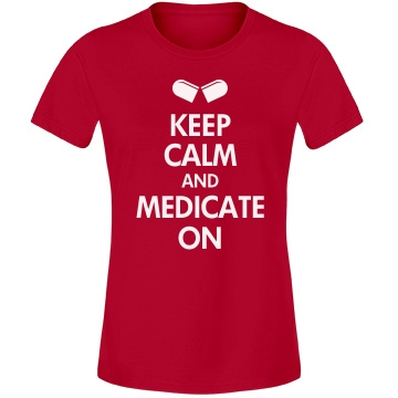 Keep Calm Nurse Doctor Misses Relaxed Fit Anvil Lightweight Fashion Tee