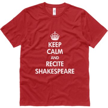 Keep Calm Shakespeare Unisex Canvas Jersey Tee