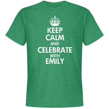 Keep Calm SoftStyle Green Unisex Anvil Lightweight Fashion Tee