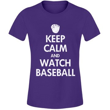 Keep Calm Watch Baseball