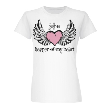 Keeper of My Heart Junior Fit Basic Bella Favorite Tee