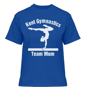 Kent Gymnastics Team Mom Misses Relaxed Fit Gildan Heavy Cotton Tee