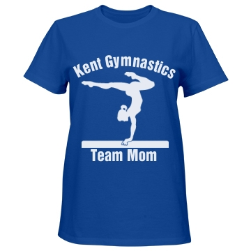 Kent Gymnastics Team Mom Misses Relaxed Fit Port & Company Essential Tee