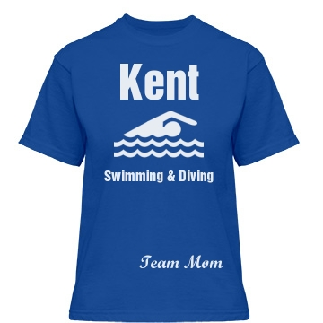 Kent Swimming Team Mom Misses Relaxed Fit Gildan Heavy Cotton Tee