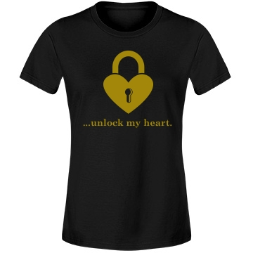 Key To Unlock My Heart Misses Relaxed Fit Anvil Lightweight Fashion Tee