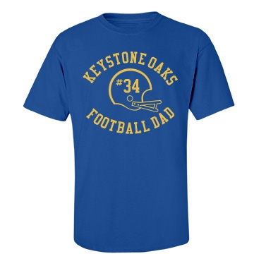 Keystone Football Dad Unisex Gildan Heavy Cotton Crew Neck Tee