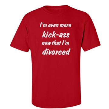 Kick-Ass Divorcee Unisex Gildan Heavy Cotton Crew Neck Tee