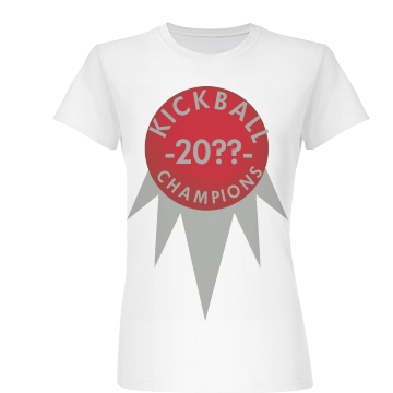 Kickball Champions Junior Fit Basic Bella Favorite Tee