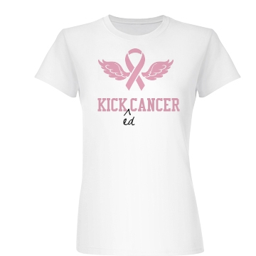 Kicked Cancer Tee Junior Fit Basic Bella Favorite Tee