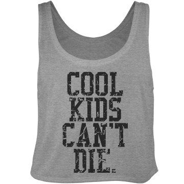 Kids Can't Die Distressed Bella Flowy Boxy Lightweight Crop Top Tank Top