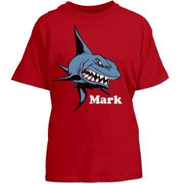 Kid's Shark Tee Youth Gildan Heavy Cotton Crew Neck Tee