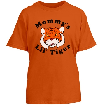 Kid's Tiger Tee Youth Gildan Heavy Cotton Crew Neck Tee