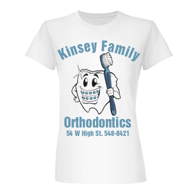 Kinsey Orthodontics Junior Fit Basic Bella Favorite Tee