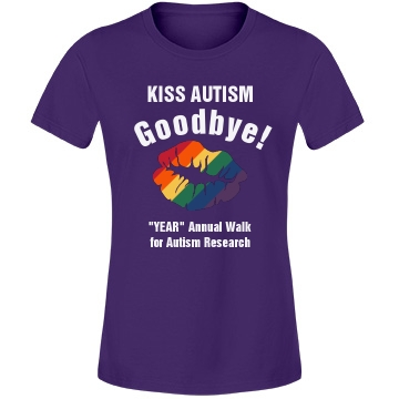 Kiss Autism Goodbye Misses Fit Anvil Lightweight Fashion