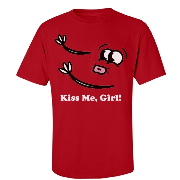 Kiss Me, Girl! Unisex Gildan Heavy Cotton Crew Neck Tee