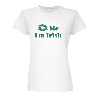 Kiss Me I'm Irish Junior Fit Basic Bella Favorite Tee