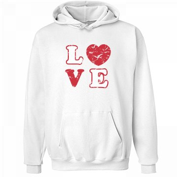 L Heart V E Unisex Hanes Ultimate Cotton Heavyweight Hoodie