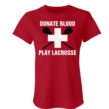 Lacrosse Donate Blood Junior Fit Bella Favorite Tee