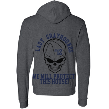 Lady Basketball Hoodie Unisex Canvas Fleece Full Zip Hoodie