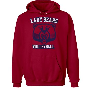Lady Bears Volleyball Unisex Hanes Ultimate Cotton Heavyweight Hoodie