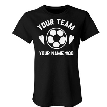 Lady Cats Soccer Junior Fit Bella Favorite Tee