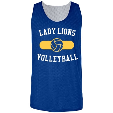 Lady Lions Volleyball Badger Sport Mesh Reversible Tank