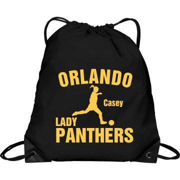 Lady Panther Soccer Bag Port & Company Drawstring Cinch Bag