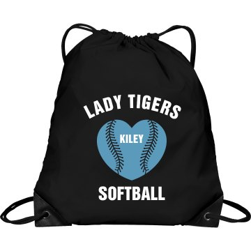 Lady Tigers Softball Port & Company Drawstring Cinch Bag