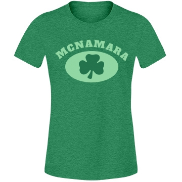 Last Name Shamrock Tee Misses Relaxed Fit Anvil Lightweight