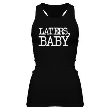 Laters, Baby Junior Fit Bella Sheer Longer Length Rib Racerback Tank Top