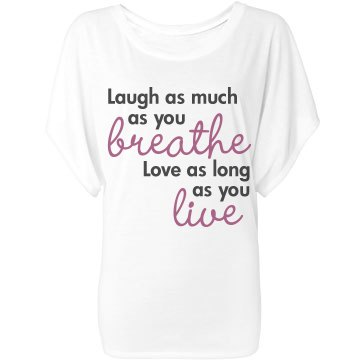 Laugh Breathe Love Live Bella Flowy Lightweight Draped Sleeve Dolman