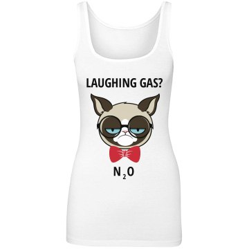 Laughing Gas Grumpy Cat Junior Fit Next Level Longer Length Tank Top
