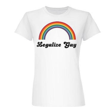 Legalize Gay Rainbow Junior Fit Basic Bella Favorite Tee