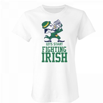 Lets Fight Irish Junior Fit Bella Favorite Tee