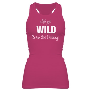 Let's Get Wild Tank Junior Fit Bella Sheer Longer Length Rib Racerback Tank Top