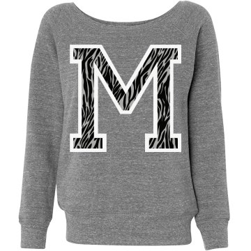 Letter Sweater M Zebra