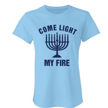 Light My Menorah Junior Fit Bella Favorite Tee