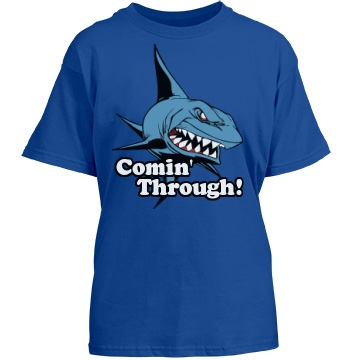 Lil' Shark Comin' Through Youth Gildan Heavy Cotton Crew Neck Tee
