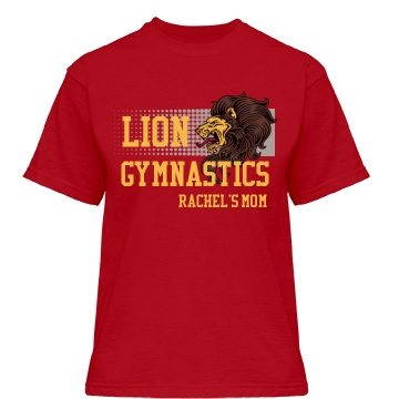 Lion Gymnastics Misses Relaxed Fit Gildan Heavy Cotton Tee