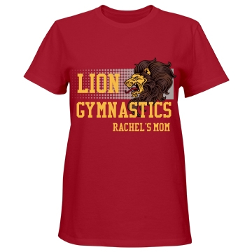 Lion Gymnastics Misses Relaxed Fit Port & Company Essential Tee