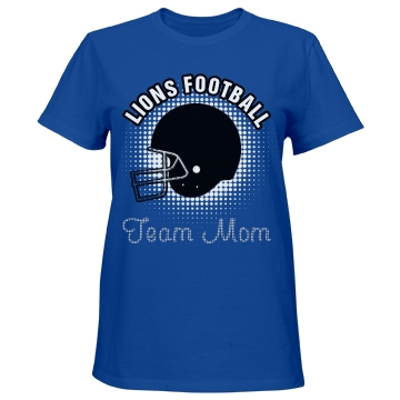 Lions Football Mom Misses Relaxed Fit Port & Company Essential Tee