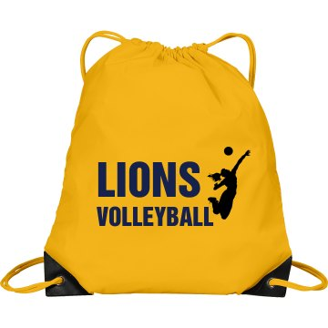 Lions Volleyball Bag Port & Company Drawstring Cinc