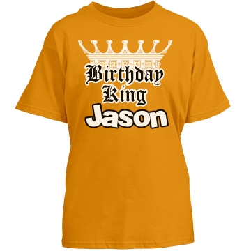 Little Birthday King Youth Gildan Heavy Cotton Crew Neck Tee