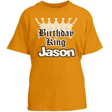Little Birthday King Youth Port & Company Essential Tee