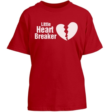 Little Heart Breaker Youth Gildan Heavy Cotton Crew Neck Tee
