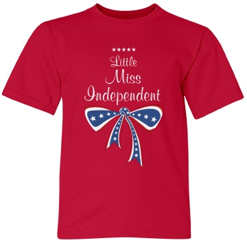 Little Miss Independent Youth Anvil Lightweight Fash