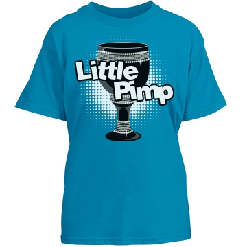 Little Pimp Youth Gildan Heavy Cotton Crew Neck Tee
