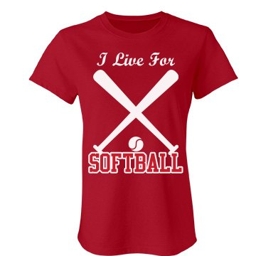 Live For Softball Junior Fit Bella Favorite Tee