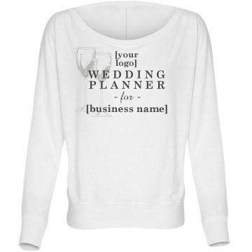 Logo Wedding Planner For Bella Flowy Lightweight Long Sleeve Dolman Tee